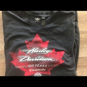 Men's Harley Davidson 100 years Canada Tshirt